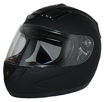 Protectwear Casco de moto mate negro H-510-ES Tamaño S