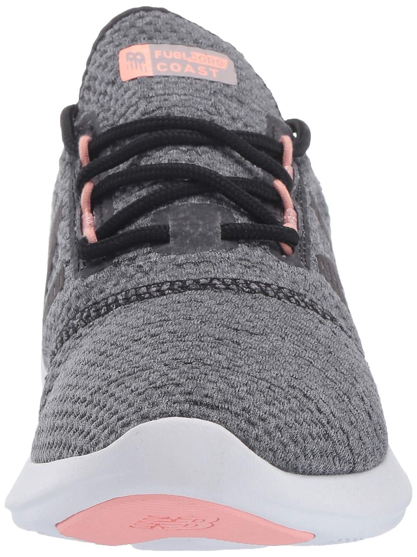 Black//Grey//White Peach 5 B US WCSTLRT4 New Balance Womens Coast V4 FuelCore Running Shoe