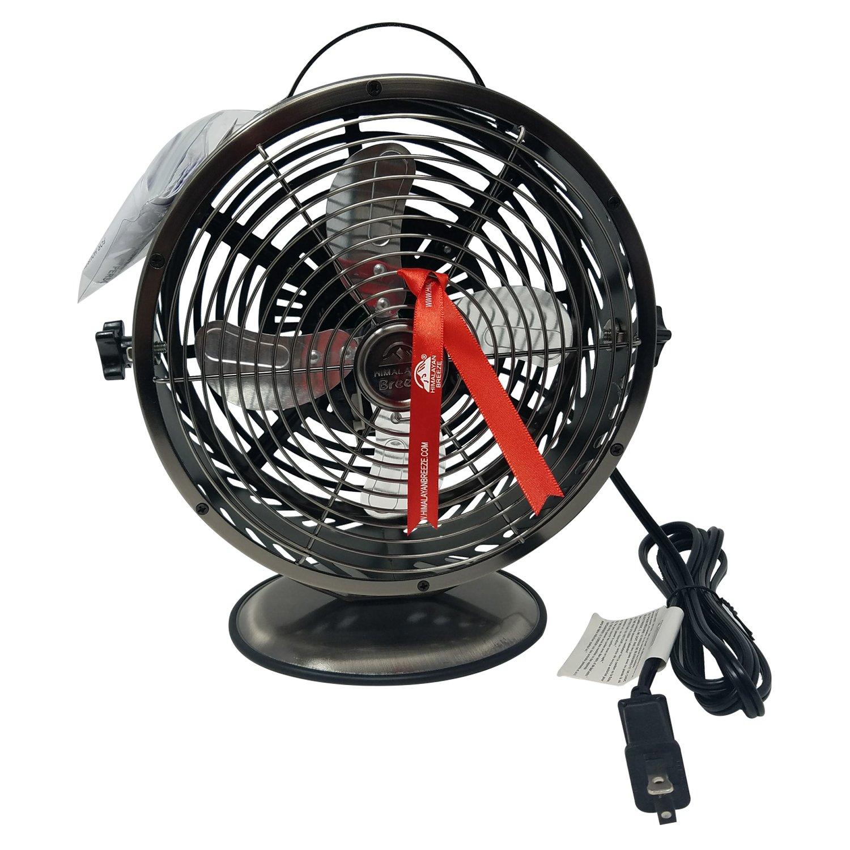Himalayan Breeze Bronze Fan, Portable Fan, ETL Certified Unique Decorative Lightweight Table Fan By WBM HBM-7015A14