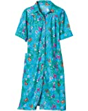 National Garden Melodies House Coat, Turq. Butterfly, 1X - Misses, Womens