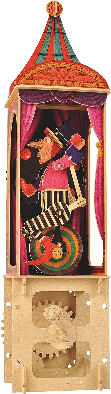 Clockwork Dreams Automata Kit Elephant Mini Machine Wood Kit Circus Series CWD404