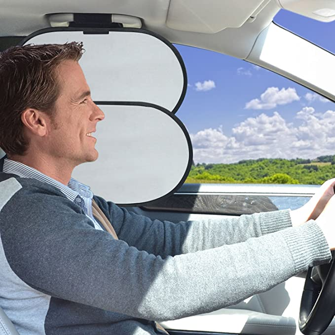 Wanpool Auto Innen Deckengriff Sonnenblocker Sonnenblende Für Seitenfenster Des Vordesitzes Auto
