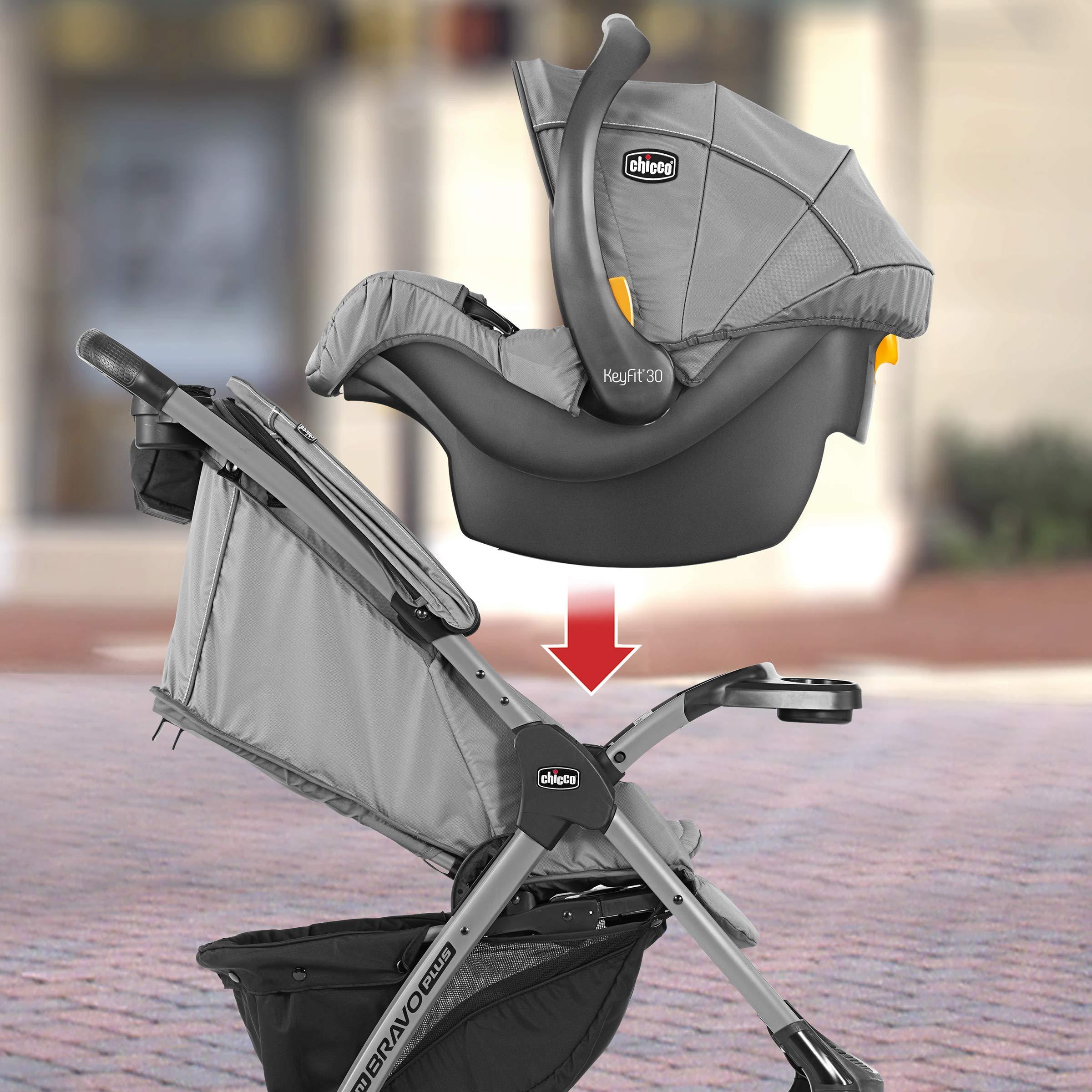Chicco Mini Bravo Plus Travel System Slate