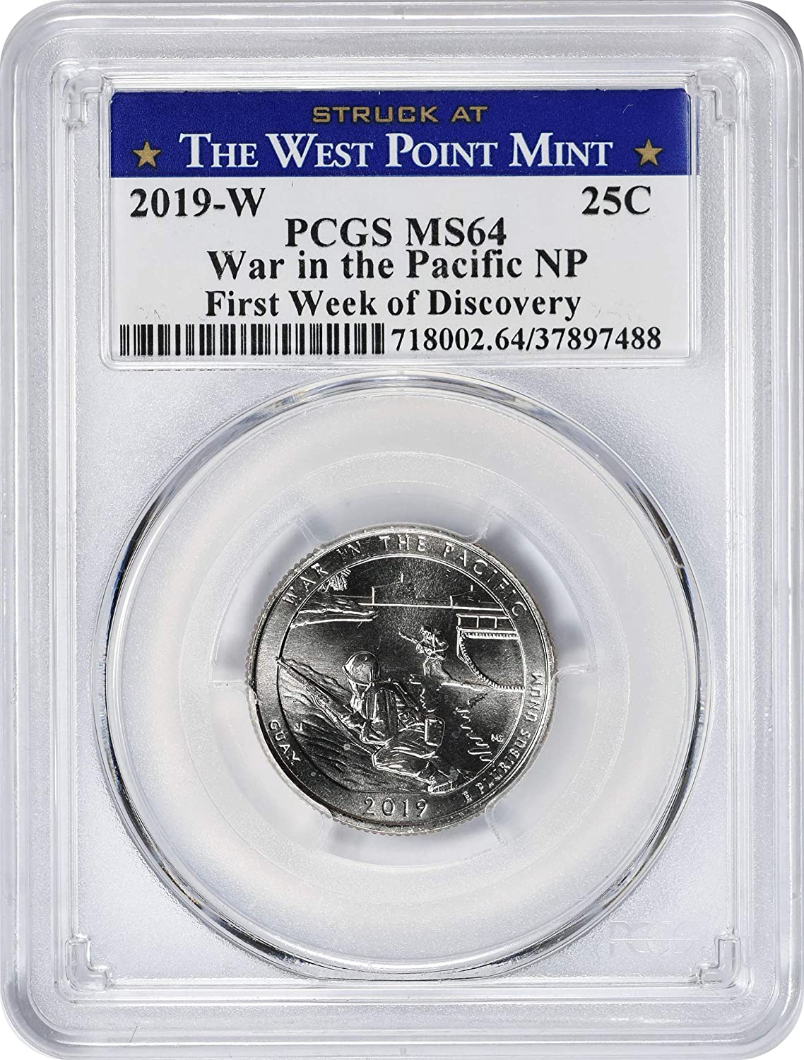 """2019-W American Memorial Park Quarter NGC MS66 First /""""W/""""Northern Mariana Islands"""