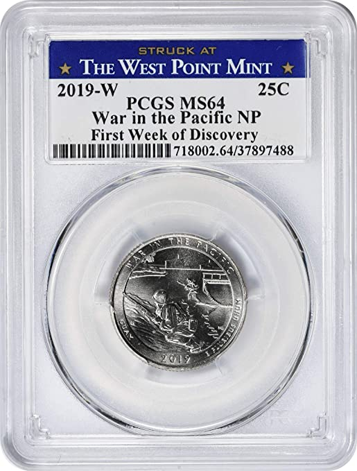 2019 W Guam War in the Pacific NP Quarter 25c NGC MS 65 West Point Coin Hunt