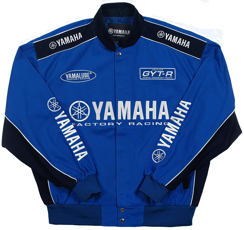 JH DESIGN GROUP Yamaha Racing Mens Cotton Twill Embroidered Jackets YAM303RAC0