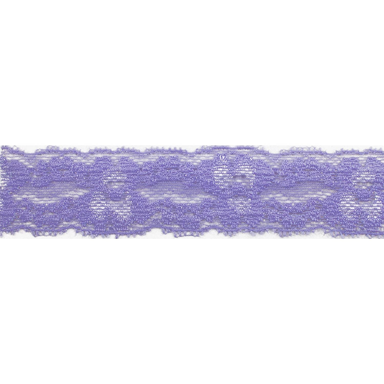 Lace Trim for Headbands Wedding Decor Garters Fashion Elastic White 5 Yards of 1 Wide Lace Elastic