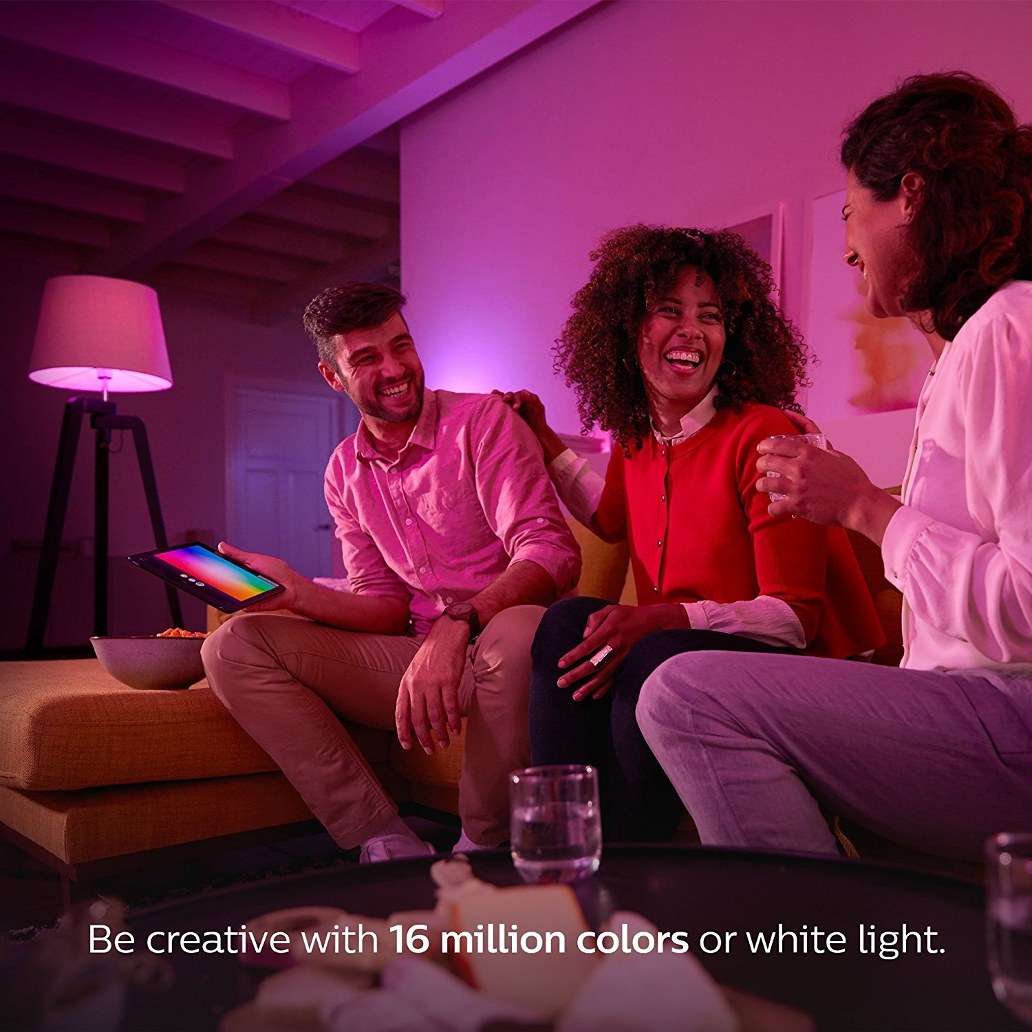 Philips Hue 464479 60W Equivalent White and Color Ambiance A19 Starter Kit, 3rd Generation, Works with Amazon Alexa by Philips (Image #6)