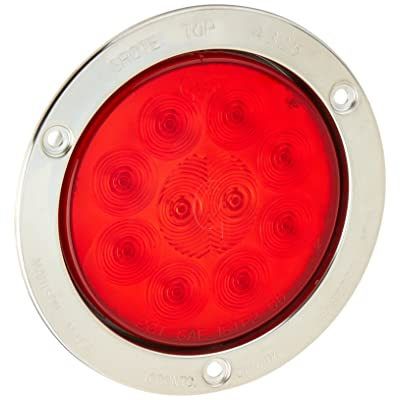 "Grote 53302 SuperNova 4"" 10-Diode Pattern LED Stop Tail Turn Lights (Stainless Steel Theft-Resistant Flange, Male Pin): Automotive"