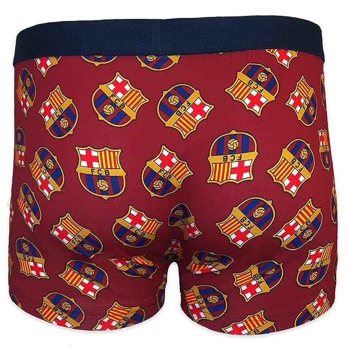 FC Barcelona - Calzoncillos oficiales de estilo bóxer - Para hombre - Con el escudo del club: Amazon.es: Ropa y accesorios