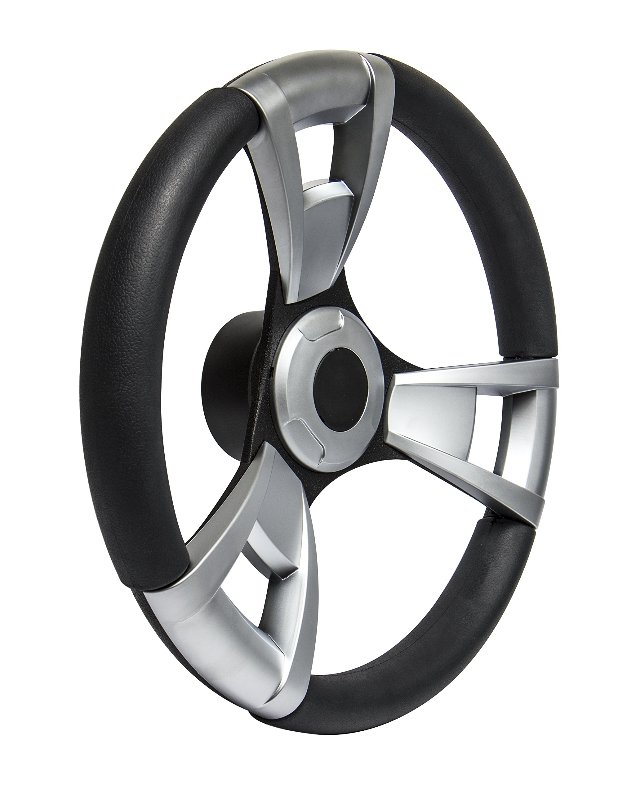 SeaStar Navigator SW60100P Steering Wheel, Navigator 13-1/2 inch, Brushed Inserts, 3 Spoke Equidistant by Dometic SeaStar