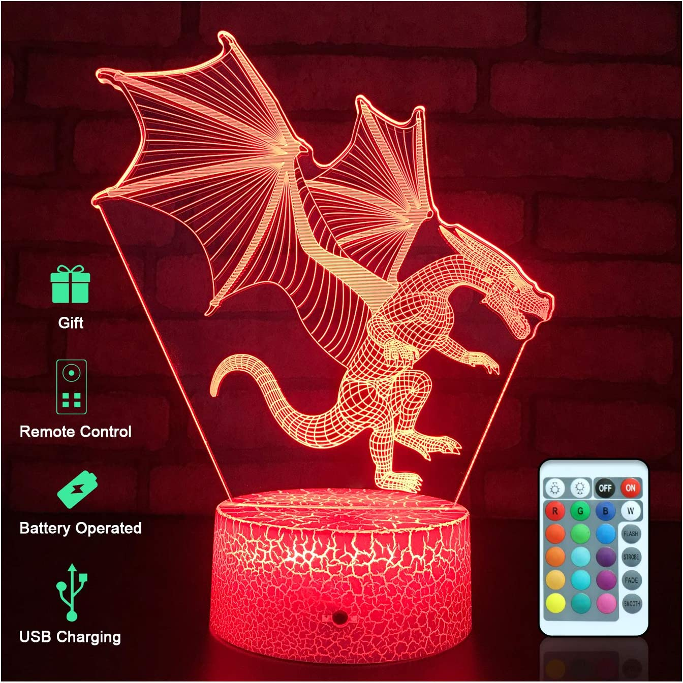DC The Flash 3D Optical Illusion Night Light Lamp Gift for Christmas