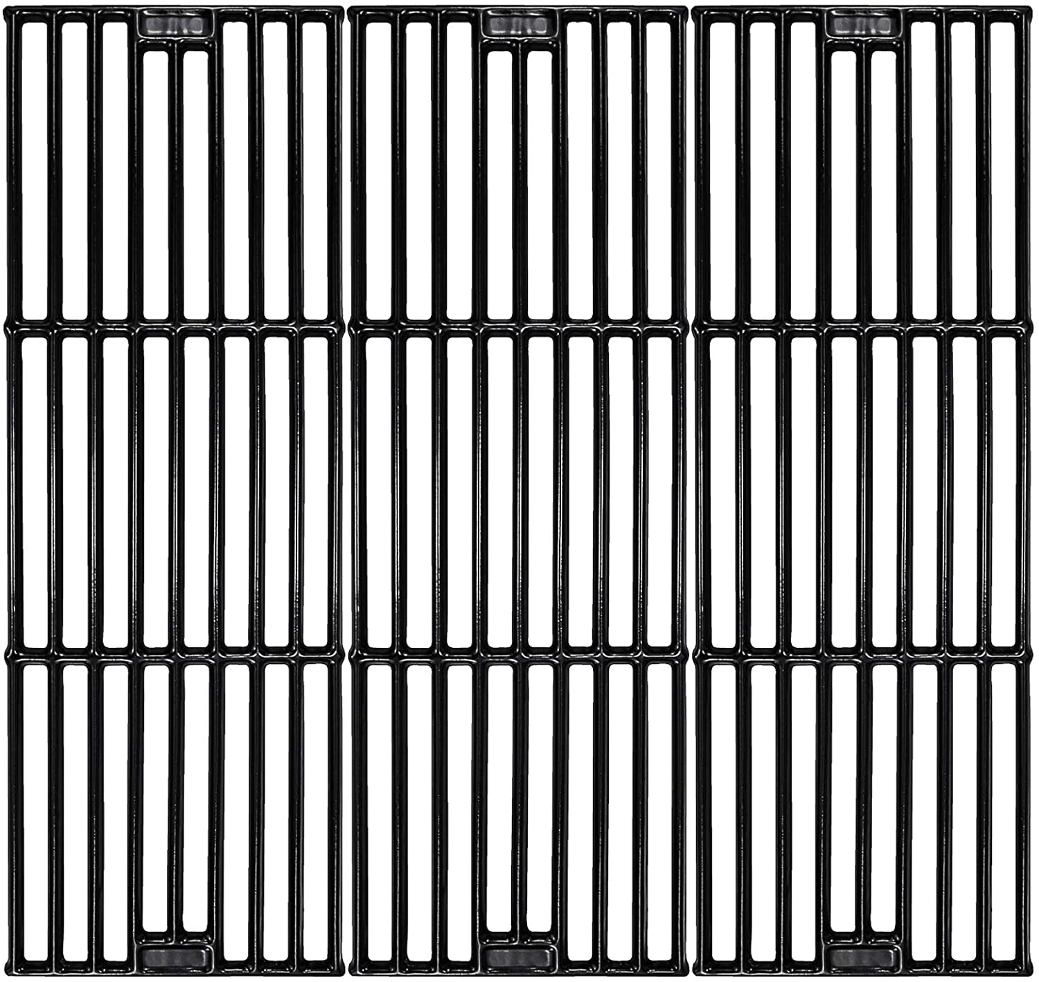 """Hisencn Porcelain Coated Cast Iron Cooking Grates Replacement for Chargriller 2121, 2123, 2222, 2828, 3001, 3030, 3725, 4000, 5050, 5252, Set of 3, 19 3/4"""" Char griller Duo 5050 Grids : Garden & Outdoor"""