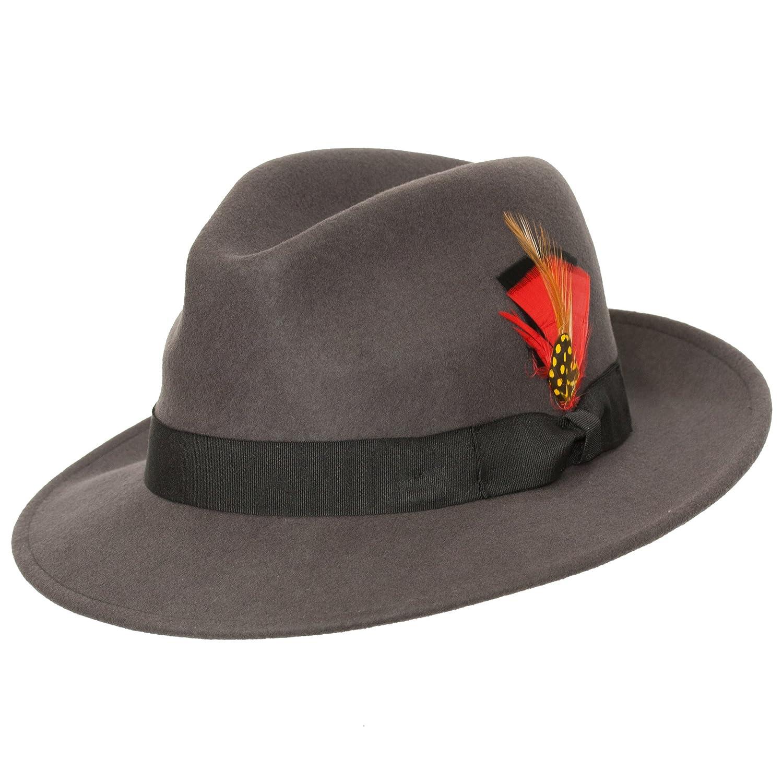 Levine Hat Co Rex Classic Center Dent LuxeFelt Fedora