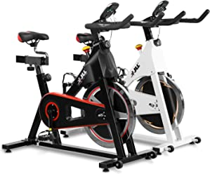 JLL IC300 Indoor Exercise Bike 2018, Cardio Workout, 18KG Flywheel Smooth Cycling, Adjustable Handlebars & Seat, Heart Rate Sensors & On Board Computer Reads Speed, Distance, Time, Calories + Pulse
