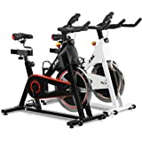 JLL® IC300 Indoor Exercise Bike 2019, Cardio Workout, 18KG Flywheel Smooth Cycling, Adjustable Handlebars & Seat, Heart Rate Sensors & On Board Computer Reads Speed, Distance, Time, Calories + Pulse