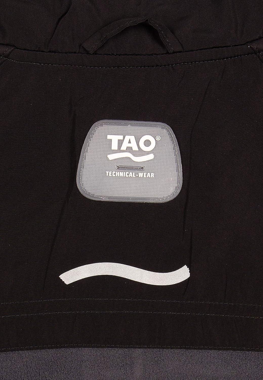 schwarz//grau warme und atmungsaktive Herren Winter Laufjacke mit Fleeceeinsatz am R/ücken und Windstopper im Vorderbereich TAO Sportswear ZENTOURION Coating Jacket