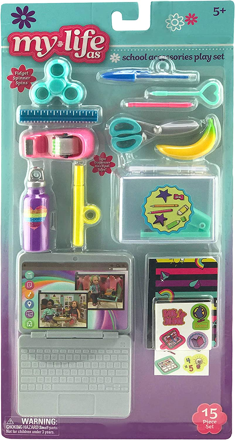 "My Life As School Accessories Play Set for 18"" Dolls"