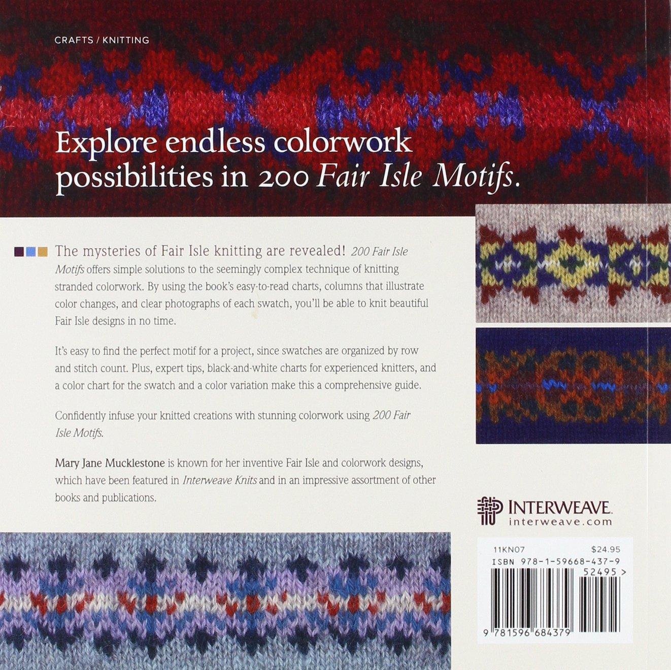 200 Fair Isle Motifs A Knitter S Directory Mary Jane Mucklestone