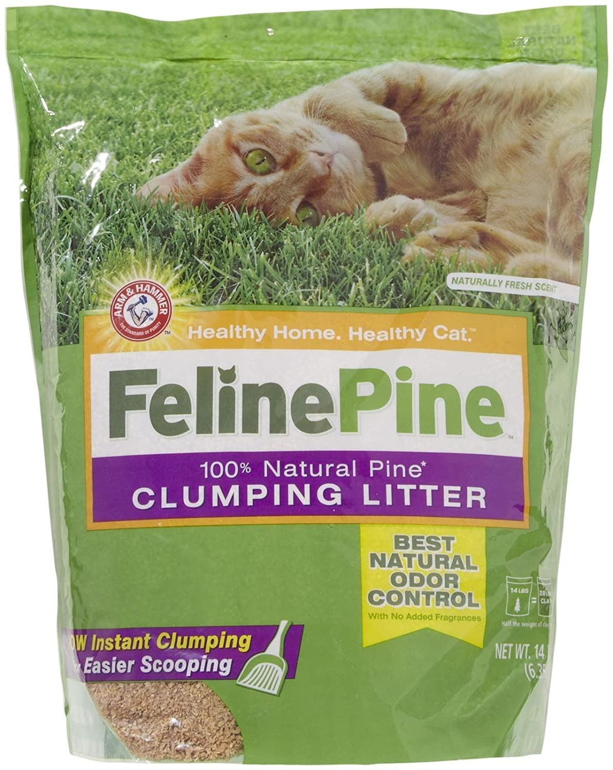 Arm & Hammer Feline Pine Cat Litter 14 Lb Bag