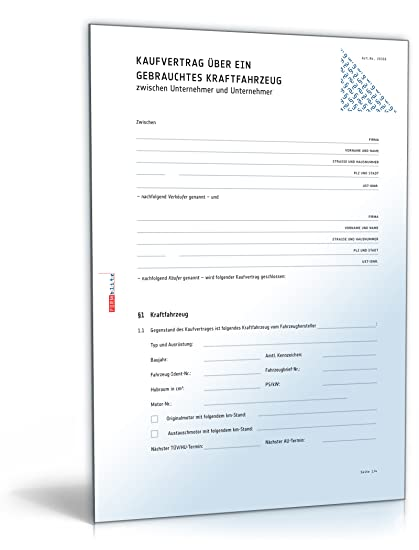 Kfz Kaufvertrag B2b Pdf Download Amazonde Software