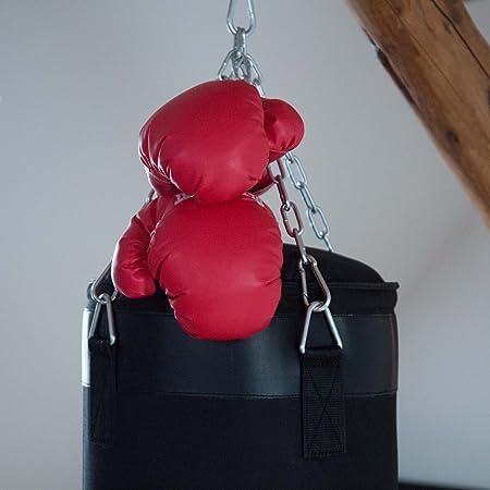Ultrasport Equipement de Boxe Sac de Boxe 100 cm Canvas Noir Rempli avec 4 Points de Suspension