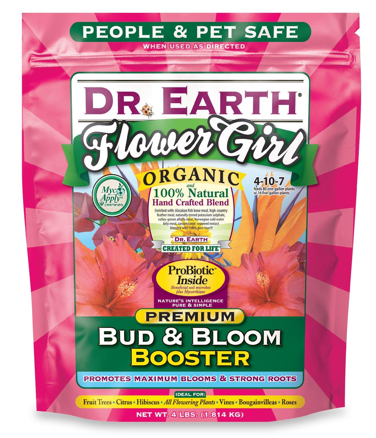 Dr. Earth 707P Organic 8 Bud & Bloom Fertilizer in Poly Bag, 4-Pound