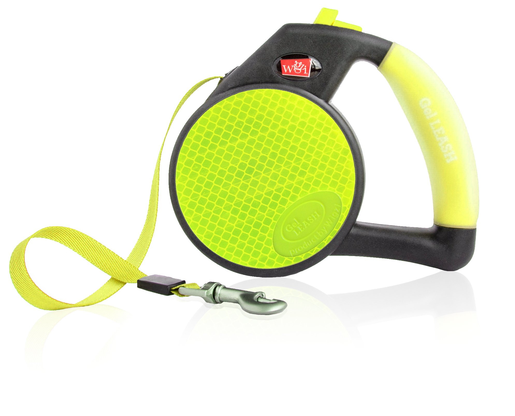 Wigzi Reflective Gel Retractable Leash, Yellow, Large by WIGZI (Image #1)