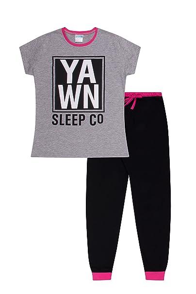 The Pyjama Factory Pijama - para niña Rosa gris 11-12 Años