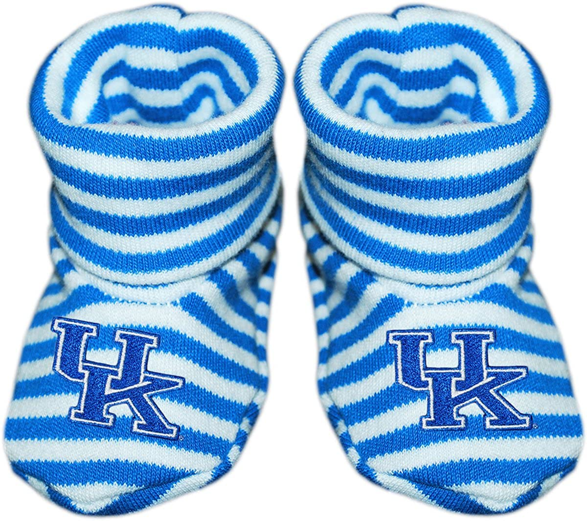 University of Kentucky Newborn Baby Striped Bootie Sock