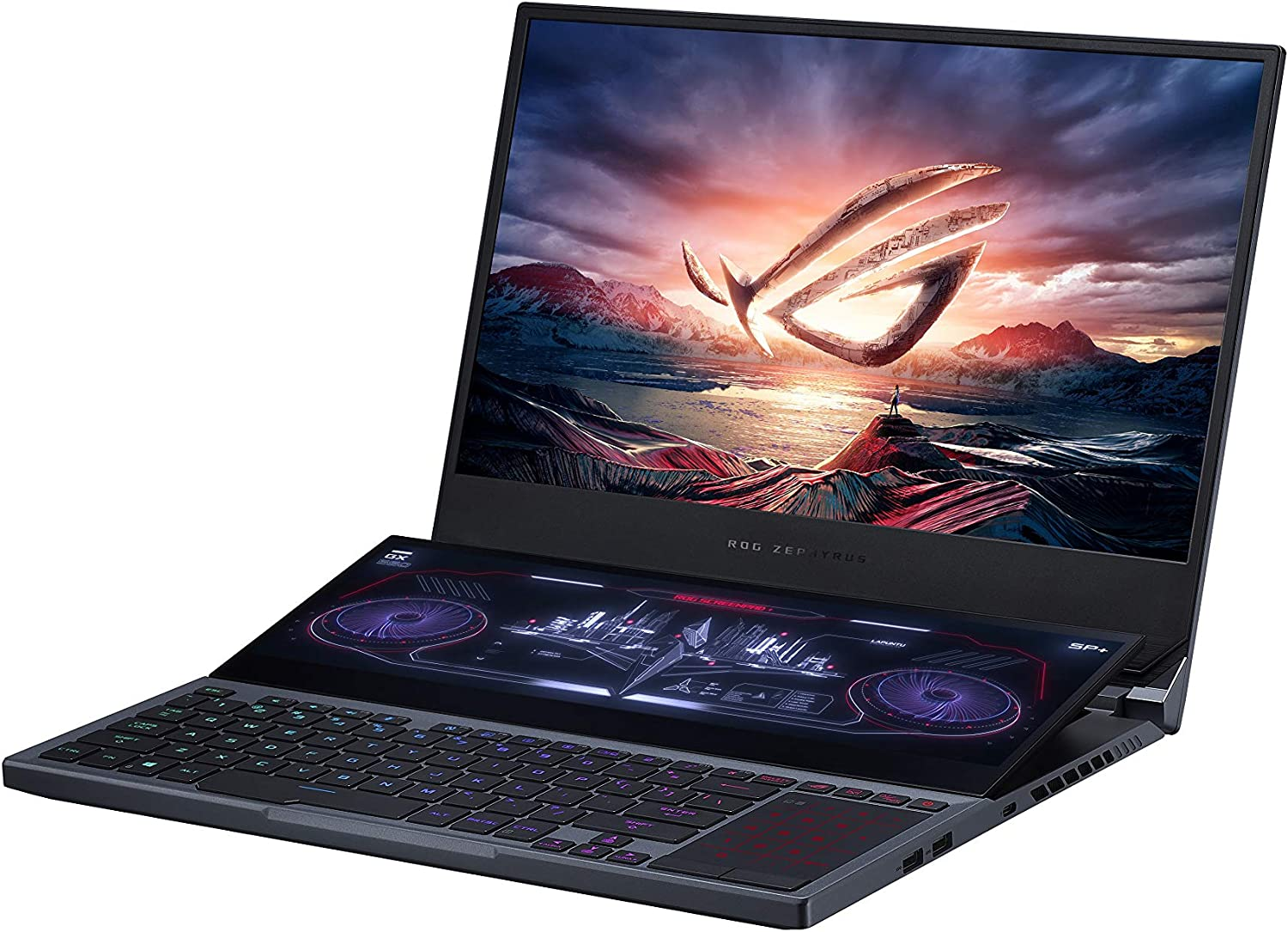 "ASUS ROG Zephyrus Duo 15 Gaming Laptop, 15.6"" 300Hz IPS Type FHD, NVIDIA GeForce RTX 2070S, Intel Core i7-10875H, 32GB DDR4, 2TB RAID 0 SSD, Per-Key RGB, Thunderbolt 3, Windows 10, GX550LWS-XS79"