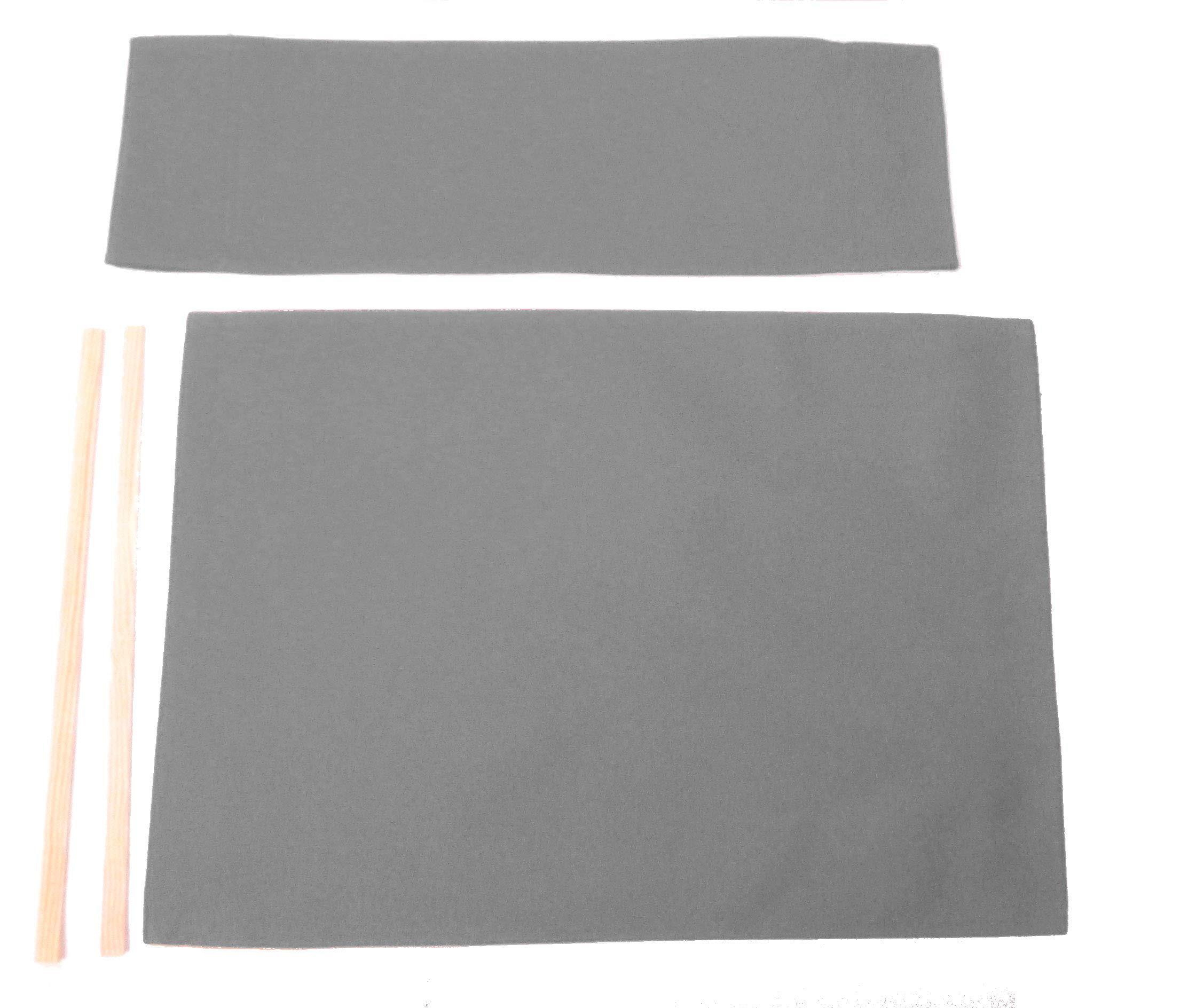 Replacement Cover Canvas for Director's Chair (Flat Stick) (Grey) by Everywhere Chair