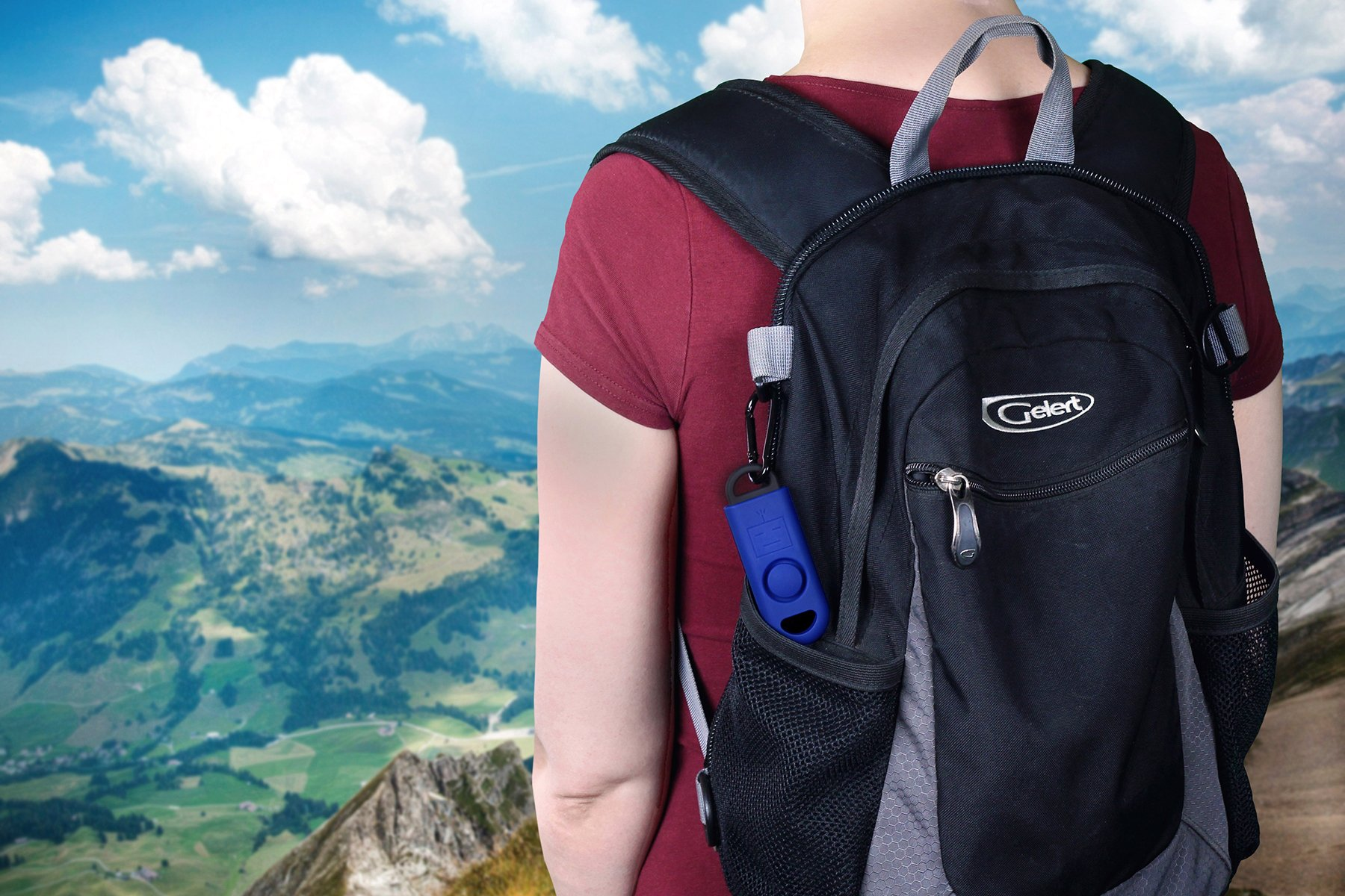 B A S U eAlarm+ with Tripwire Hook, Emergency Personal Alarm, Battery Included, Carabiner Included, Navy Blue by B A S U (Image #7)