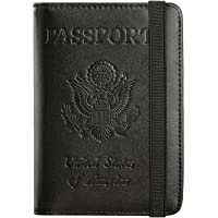 Passport Holder Cover Wallet RFID Blocking Leather Card Case Travel Document Organizer