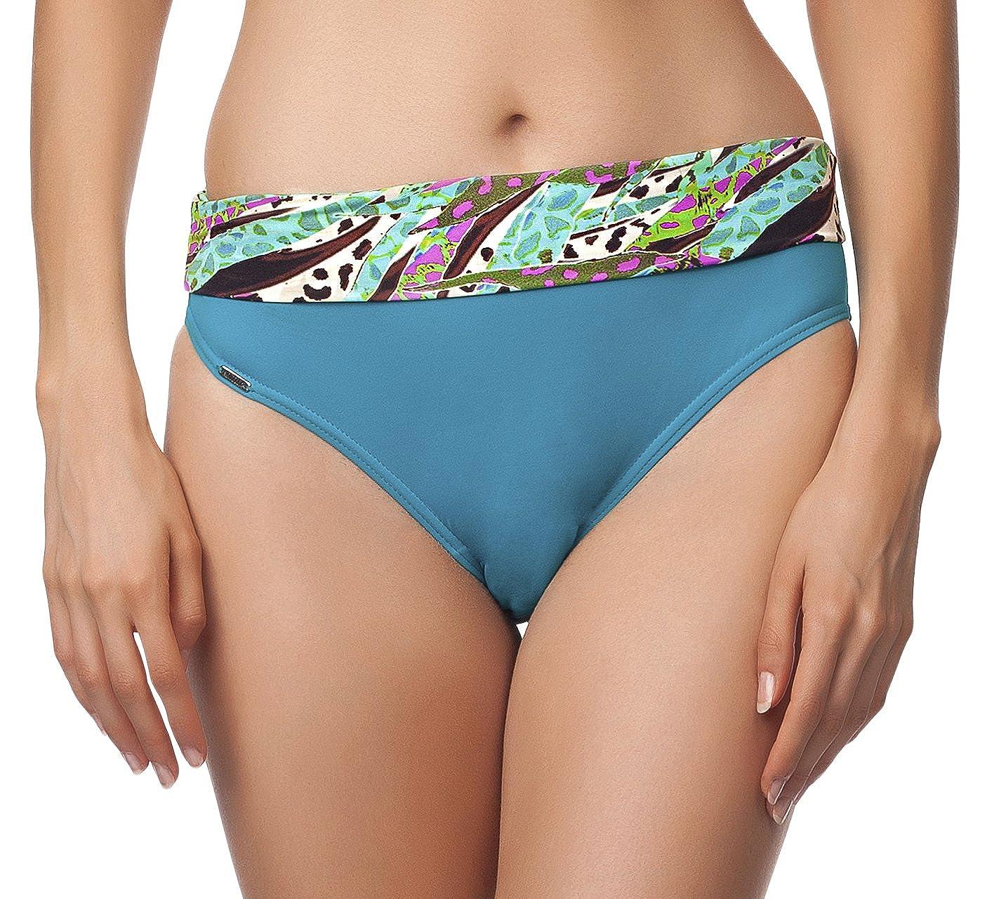 UM 50 PROZENT REDUZIERT Antie Damen Bikini Slip 81L2D4N31 Türkis/Lila MdQ2W3d4