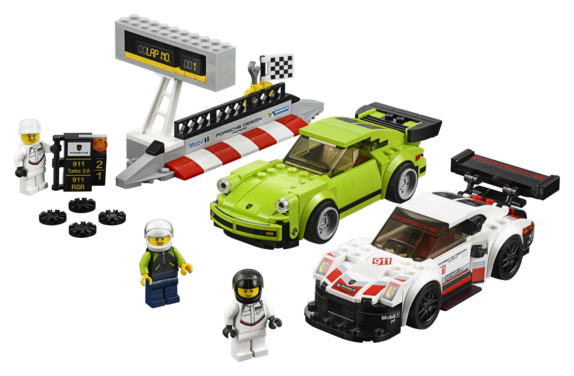 LEGO Speed Champions Porsche 911 RSR and 911 Turbo 3.0 75888 Building Kit (391 Piece) by LEGO (Image #2)