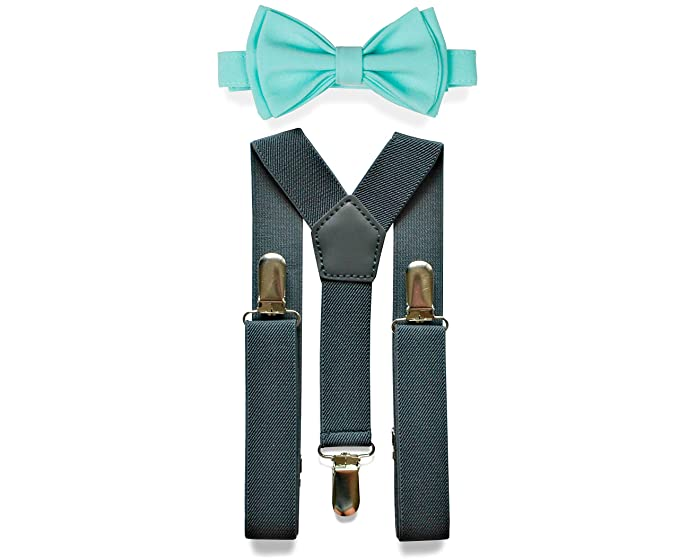 b76e78aba Charcoal Grey Suspenders & Bow Tie Set for Baby Toddler Boy Teen Men (1.
