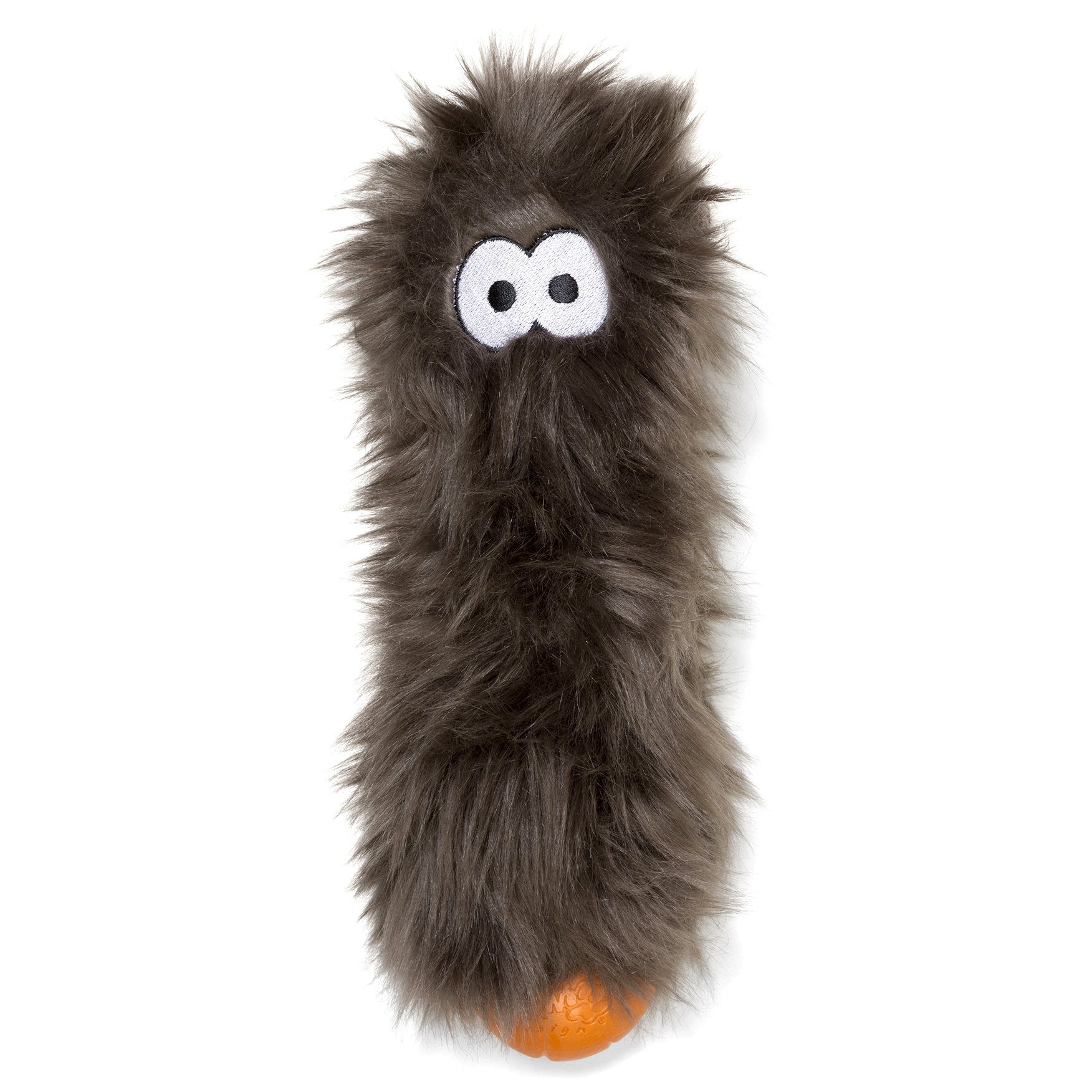 West Paw Rowdies with HardyTex and Zogoflex, Durable Plush Dog Toy for Small to Medium Dogs, Custer, Pewter Fur