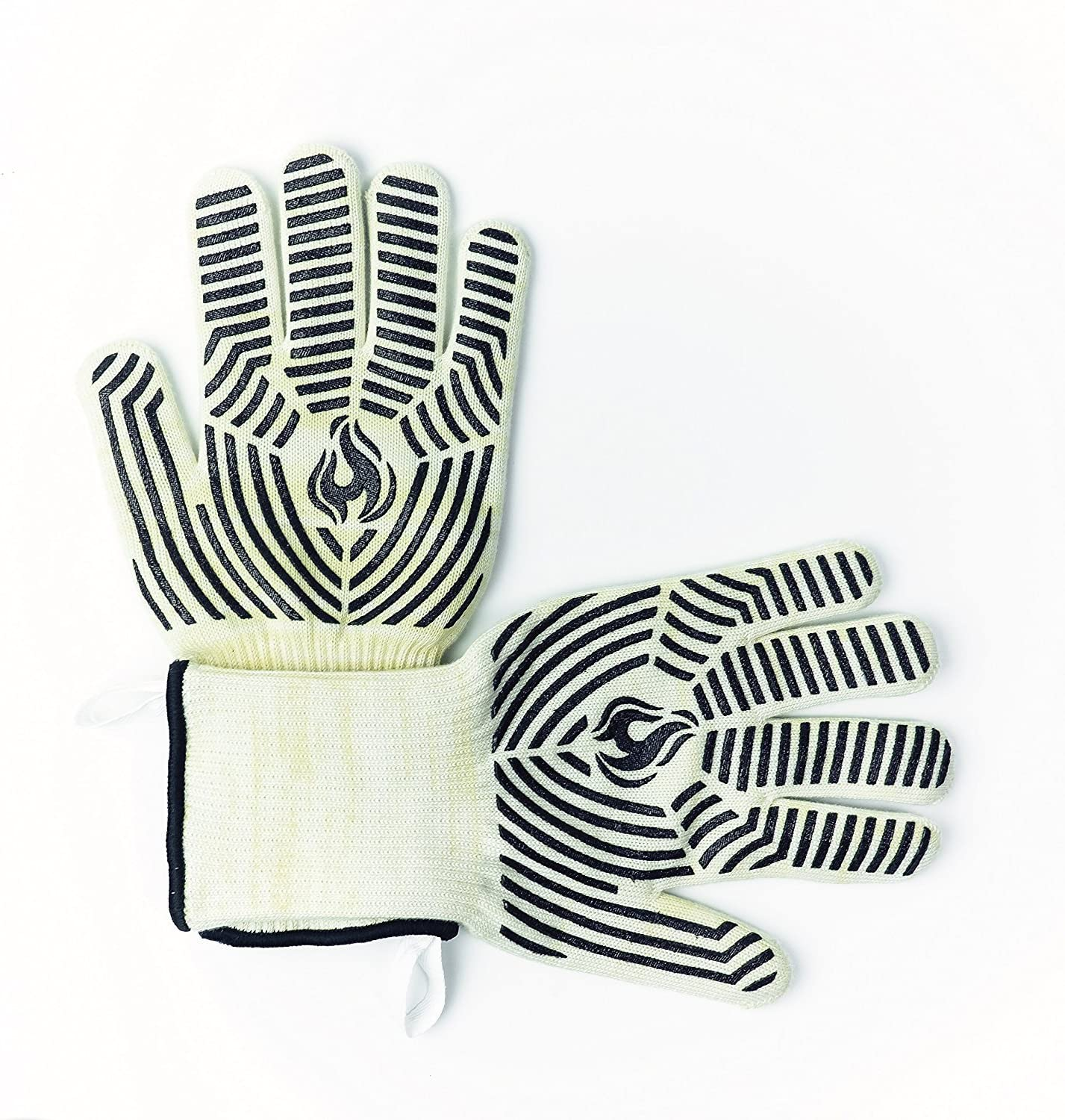 """Either Or Kitchen 932℉ Heat Resistant Oven Gloves, With 5"""" Extended Cuff For Forearm Protection, Cut Resistant Material, Oven Mitts, Pot Holders, Grill Gloves, Premium Quality"""