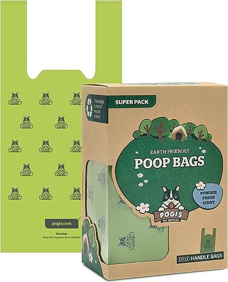 Pogis Poop Bags - 300 Bolsas para excremento de Perro con manijas ...