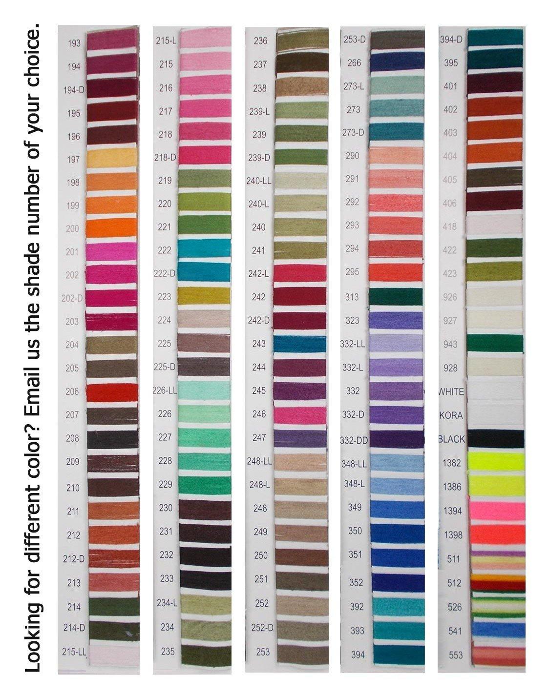 Set of 10 Pcs Gray Turquoise Cotton Crochet Thread Cross Stitch Knitting Yarn Tatting Doilies Skeins Lacey Craft by CraftyArt (Image #7)