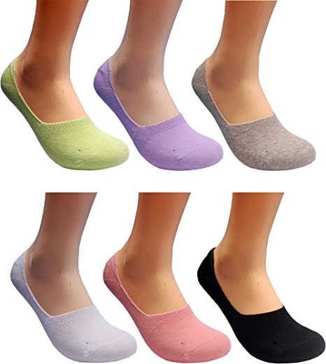 New 3 Pairs Womens Black Shoe Liners Footsies Invisible thin Socks SIZE 6-9