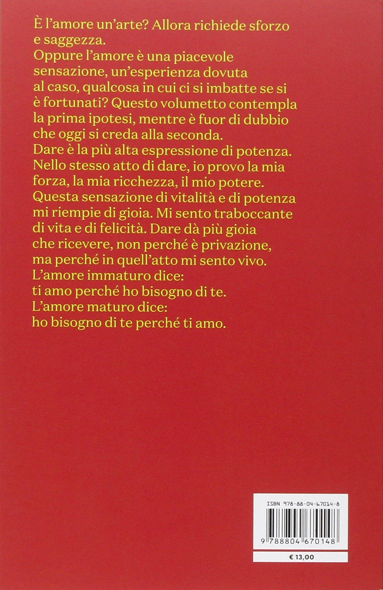 l arte di amare erich fromm  L'arte di amare: : Erich Fromm, M. Damiani: Libri