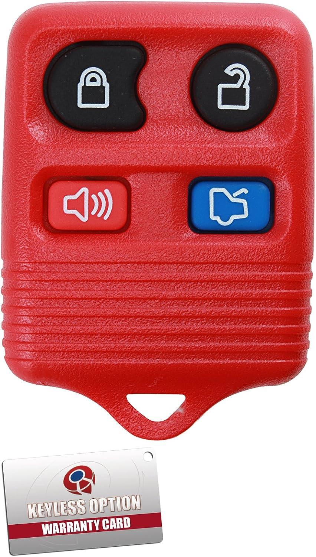 Black KeylessOption Replacement Keyless Entry Remote Control Car Key Fob