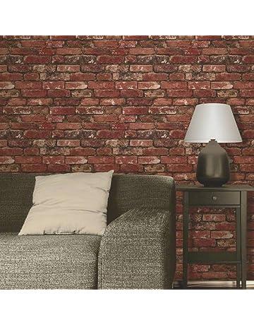 b41b4952e08 Brewster FD31285 Rustic Brick Wallpaper