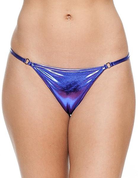 344860334d90c Gary Majdell Sport Women's New Liquid Thong Swimsuit Bottom Liquid Purple  Small