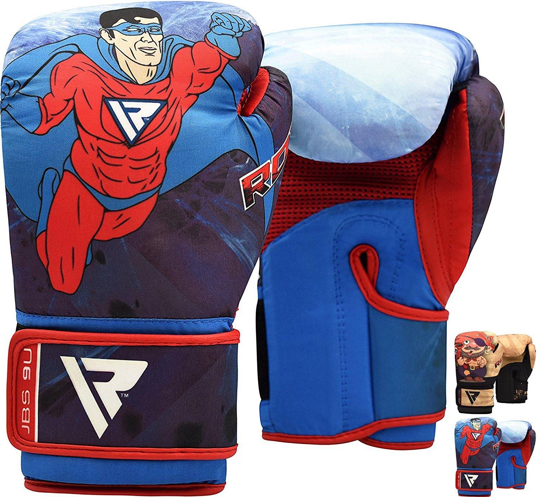 RDX Kids Boxing Gloves 6oz Muay Thai Children MMA Training Junior Punch Bag Cartoon Youth Kickboxing Mitts