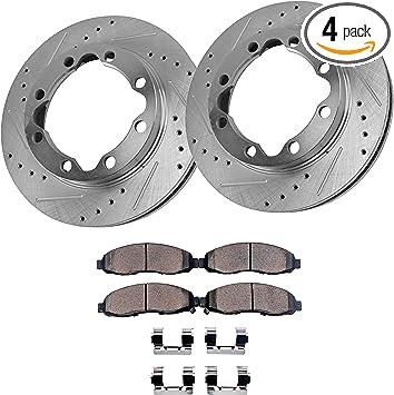 Ceramic Pads For Dodge Ram 2500 3500 1998-1999 4WD Front Discs Brake Rotors