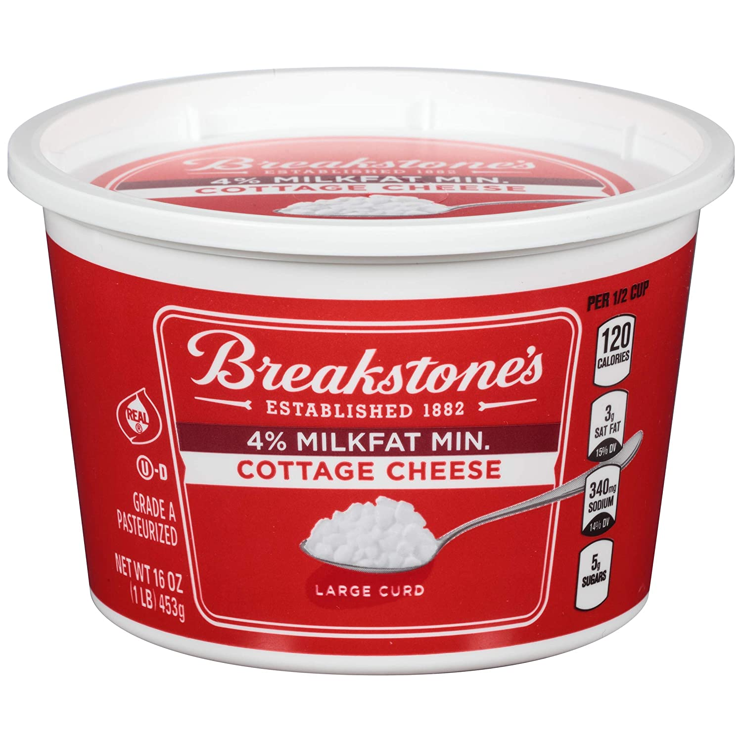 Astonishing Breakstones Large Curd 4 Milk Fat Min Cottage Cheese 16 Download Free Architecture Designs Rallybritishbridgeorg