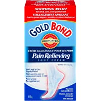 Gold Bond Pain Relieving Foot Cream - 113 g, Fast, Temporary Relief of Minor Foot Pain, Muscle & Joint Aches Associated…